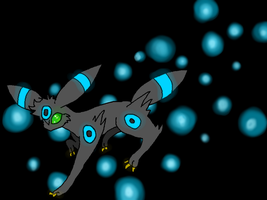 Shiny Umbreon Sparkle dazzle razzle frazzle :3 by Saejay