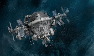 Red Ghost's space station by strib
