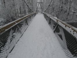 Snowy Bridge by LargeCommander