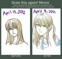 Draw This Again: One Year Difference by Z-Raid