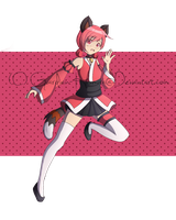 .::Art Trade: Mew Cherry::. by Scarlett-Knight