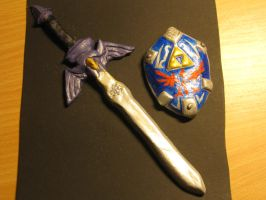 Master Sword and Hylian Shield by Niisanchan