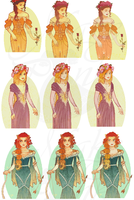 WIP - Disney Mucha Patterns (Hannah-Alexander) by pinkythepink