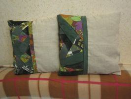 Patchwork pillows by Schisandra