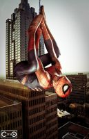 Aaron Rivin as Spidey by moshunman
