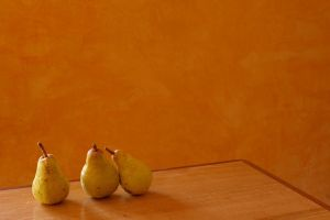 3 pears on the table by MissUmlaut