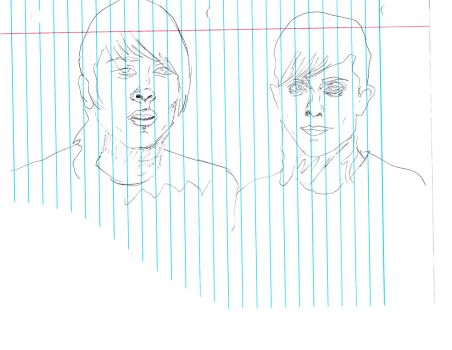 Tegan and Sara / sketch ink draw by Cassie K by sillybunnns
