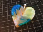 'Leaf-Hearted' Dichroic Fused Pendant by Dimolicious