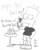 Birthday of Bart the Brat by komi114