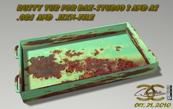 Rusty tub for DAZ and as .OBJ by ancestorsrelic