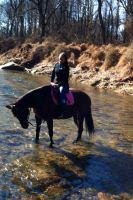 Playing in the Creek by MeganSambuca