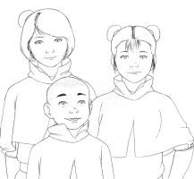 Airbender kids by BlueDecember89