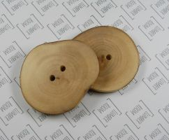 Big european Birch Buttons, Handmade from reclaime by LumberRoom