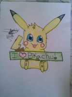 Pikachu Drawing by Miku-chan9