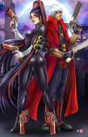 Bayonetta and Dante by WiL-Woods