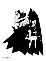 Dark Knight Batman and Robin by markmchaley