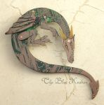 green dragon brooch by thebluekraken