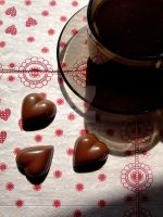 Heart shaped chocolate by coffeeflakesaroundme