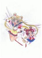 sailor moon stars by OrgelFantasia