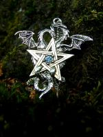Dragon pentacle by Tricia-Danby