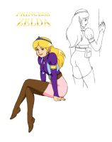Princess Zelda animated series by Aremke
