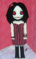 Creepy Chick in Red Stripes by Zosomoto