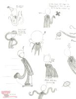 Slender Man doodles by Call-Me-Jack