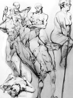 Gesture Drawings Summer-Fall '12 by bossquibble