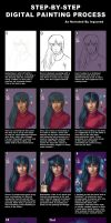 Digital Painting Process by ISquaredArt