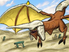 Panzer Dragoon Sketch by luckettx