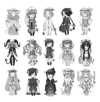 POINT Adoptables | SET 5 { 5/6 open MOVED } by Erangot