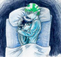 Frodo and Sam blueness by Mistress-D