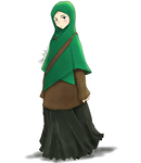 Girl with the green hijab by SketsaMuslim