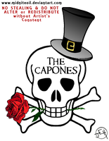 Band Logo-The Capones by Midniteoil-Burning