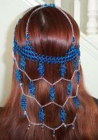 Blue dreams headdress by enchantress13