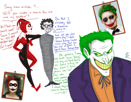 Joker got Tim Burton! by romyextrafan