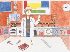 Man working in his Lab by michal1995