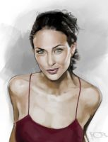 Claire Forlani sketch by tonyob