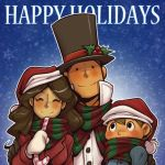 Happy Holidays from Team Layton! by zillabean