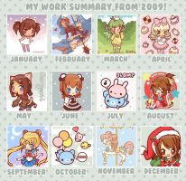2009 Art Summary by MoogleGurl