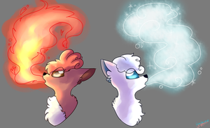 Fire and Ice by Gaxfreak
