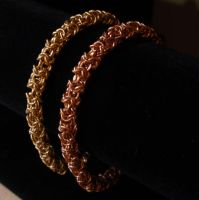 Turkish round chainmaille bracelets by MermaidsTreasury