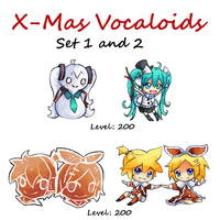 Squiby: X-mas Vocaloids Set 1 and 2 by Co0kie-Cat