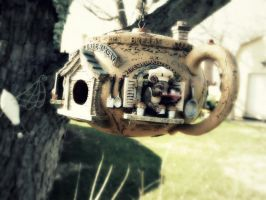 Teapot Bird house by Sindaddy