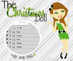 +The Christmas Doll - Psd and Png (: by HillyTutorials
