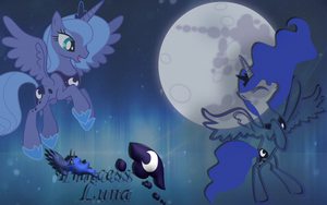Princess Luna Wallpaper by HollowAngelDrawing