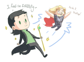 How I see Loki and Thor~ by NuclearMango