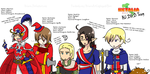 Hetalia AU Dungeons and Dragons Team by Ariaera