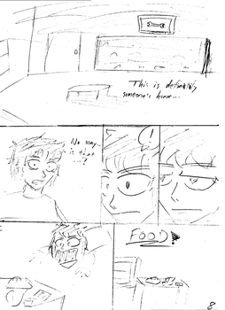 Unnamed comic Page 8 rough draft by C-Survive