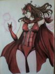 Scarlet Witch finished!! by victoriapieroni